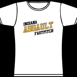 Indiana Assault Fastpitch 50/50 blend Tee Shirts