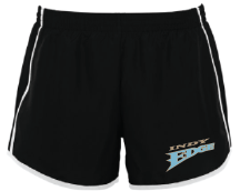 Indy Edge Embroidered Ladies Pulse team shorts – Large, Black